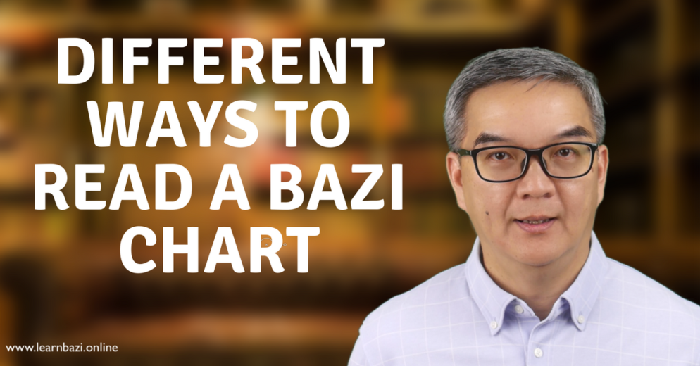 Different ways to read a BaZi chart
